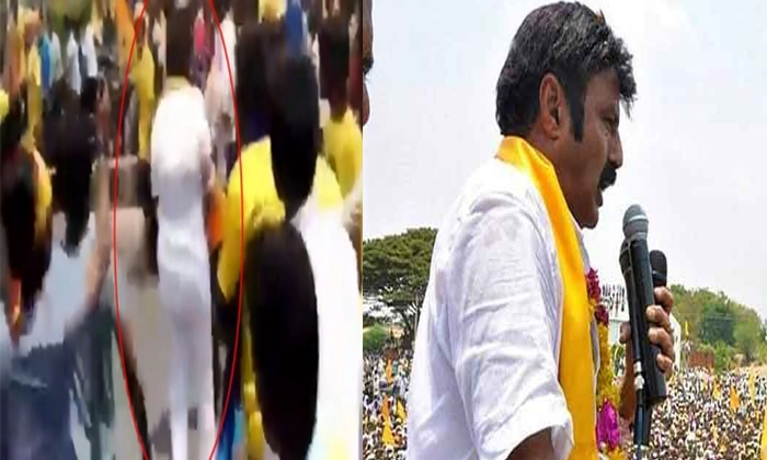 Balakrishna Once Again Attack On Fan In Chipurupalli--Balakrishna Once Again Attack On Fan In Chipurupalli-
