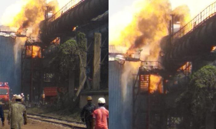 Major Fire Accident In Bhilai Steel Plant--Major Fire Accident In Bhilai Steel Plant-