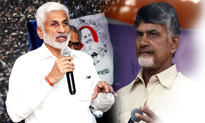 M.p. Vijay Sai Reddy Give Rivers Punch To Tdp Leaders--M.P. Vijay Sai Reddy Give Rivers Punch To TDP Leaders-
