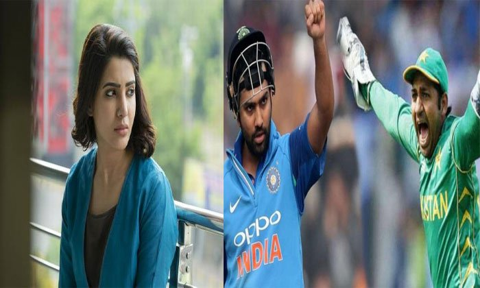 Samantha Used India And Pakistan Match For O Baby Movie Promotion--Samantha Used India And Pakistan Match For O Baby Movie Promotion-