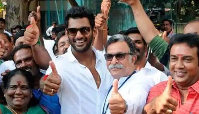 Vishal In Nadigar Sangham Elections--Vishal In Nadigar Sangham Elections-