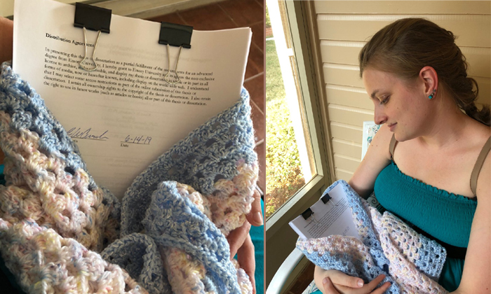 Woman Recreates Perfect Baby Photoshoot With Phd Thesis--Woman Recreates Perfect Baby Photoshoot With Phd Thesis-