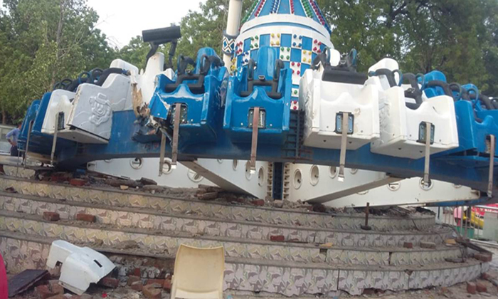 Ahmedabad Amusement Park Ride Crashes,--Ahmedabad Amusement Park Ride Crashes -