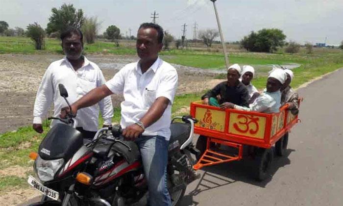 Farmer Invents Bike Trolley For Transportation--Farmer Invents Bike Trolley For Transportation-