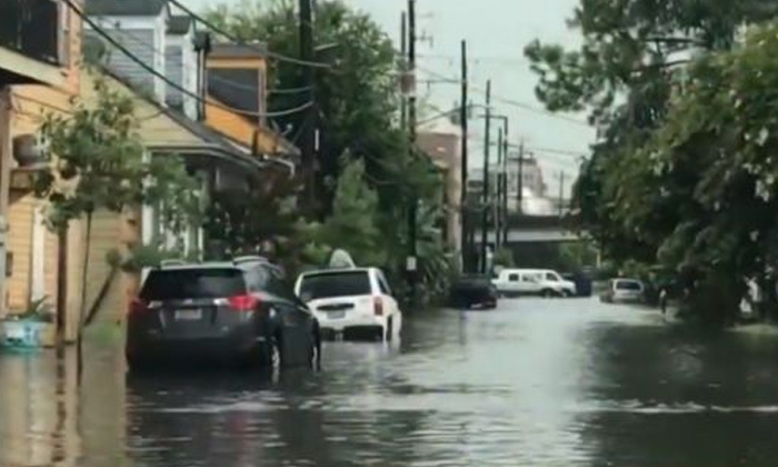 Flooded New Orleans Braces For Likely Hurricane--Flooded New Orleans Braces For Likely Hurricane-