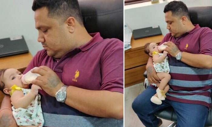 Heartwarming Photo Of A Father Feeding His Baby Daughter Goes Viral--Heartwarming Photo Of A Father Feeding His Baby Daughter Goes Viral-
