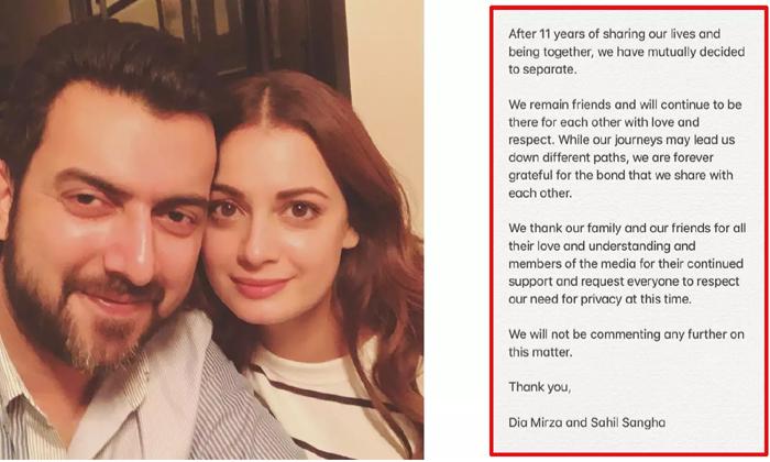 Dia Mirza And Husband Sahil Sangha Announce Separation--Dia Mirza And Husband Sahil Sangha Announce Separation-