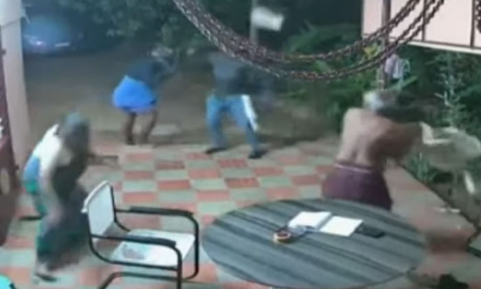 Elderly Couple Fight Back Armed Robbers With Slippers And Chairs--Elderly Couple Fight Back Armed Robbers With Slippers And Chairs-
