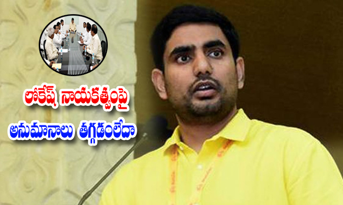 Tdp Party Leaders Thinking About Nara Lokesh Activities--TDP Party Leaders Thinking About Nara Lokesh Activities-