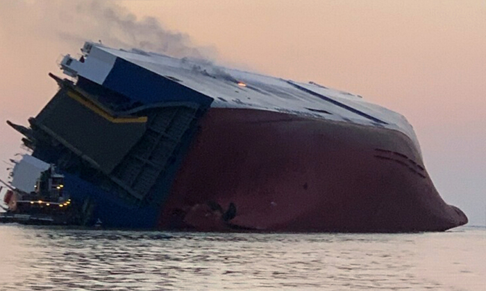 4 Crew Members Are Missing From A Cargo Ship Overturns Near Georgia-cargo Ship,cargo Ship Overturns Near Georgia,georgia,nri,telugu Nri News Updates-4 Crew Members Are Missing From A Cargo Ship Overturns Near Georgia-Cargo Cargo Georgia Georgia Nri Telugu Nri News Updates