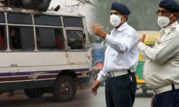 Noida Bus Owner Fined For Driver Not Wearing A Helmet-new Motor Vehicle,noida Bus Owner-Noida Bus Owner Fined For Driver Not Wearing A Helmet-New Motor Vehicle