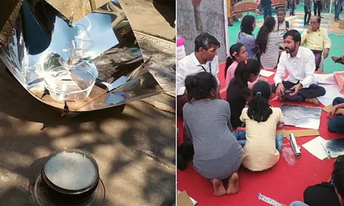 A Man Make Solar Cooker At Just Rs 100 For Tribal Woman And Villagers-aluminium Plate,india Developing Villages-A Man Make Solar Cooker At Just Rs 100 For Tribal Woman And Villagers-Aluminium Plate India Developing Villages