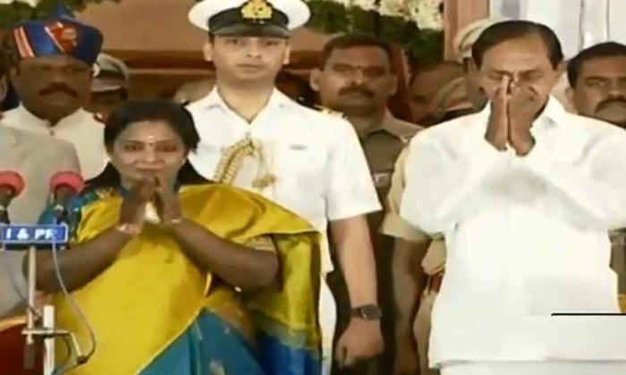 Tamilisai Soundararajan Oath In Telangana Governner-narasimhan,tamilisai Soundararajan,telangana-Tamilisai Soundararajan Oath In Telangana Governner-Narasimhan Tamilisai