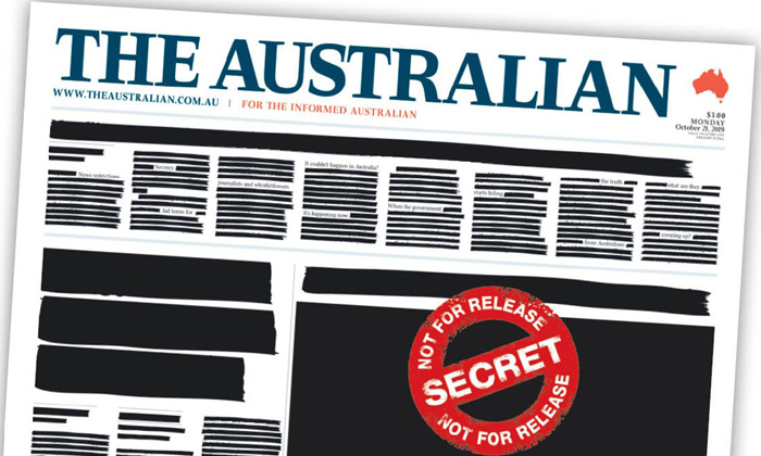 Kangaroos Newspapers Black Out Front Pages In \'secrecy\' Protest-newspapers Black Out Front,nri,telugu Nri News Updates-Kangaroos Newspapers Black Out Front Pages In 'secrecy' Protest-Newspapers Nri Telugu Nri News Updates