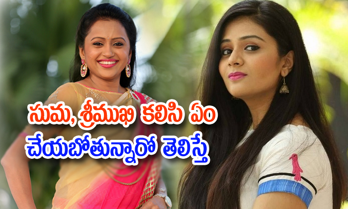 Anchor Suma Plans A New Tv Show With Anchor Srimukhi-anchor Suma,new Tv Show,suma Productions,suma Rajeev Creations Telugu Tollywood Movie Cinema Film Latest News-Anchor Suma Plans A New Tv Show With Srimukhi-Anchor New Suma Productions Rajeev Creations