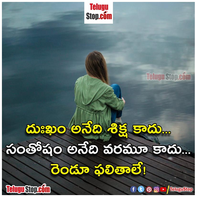 TeluguStop.com - Happiness And Sadness Quotes In Telugu-తెలుగులో ఆనందం మరియు విచారం కోట్స్-Telugu Quotes - Daily Inspirational/Motivational/Love/Friendship/Festival/Life Style/Good Morning WhatsApp Social-Telugu Tollywood Photo Image