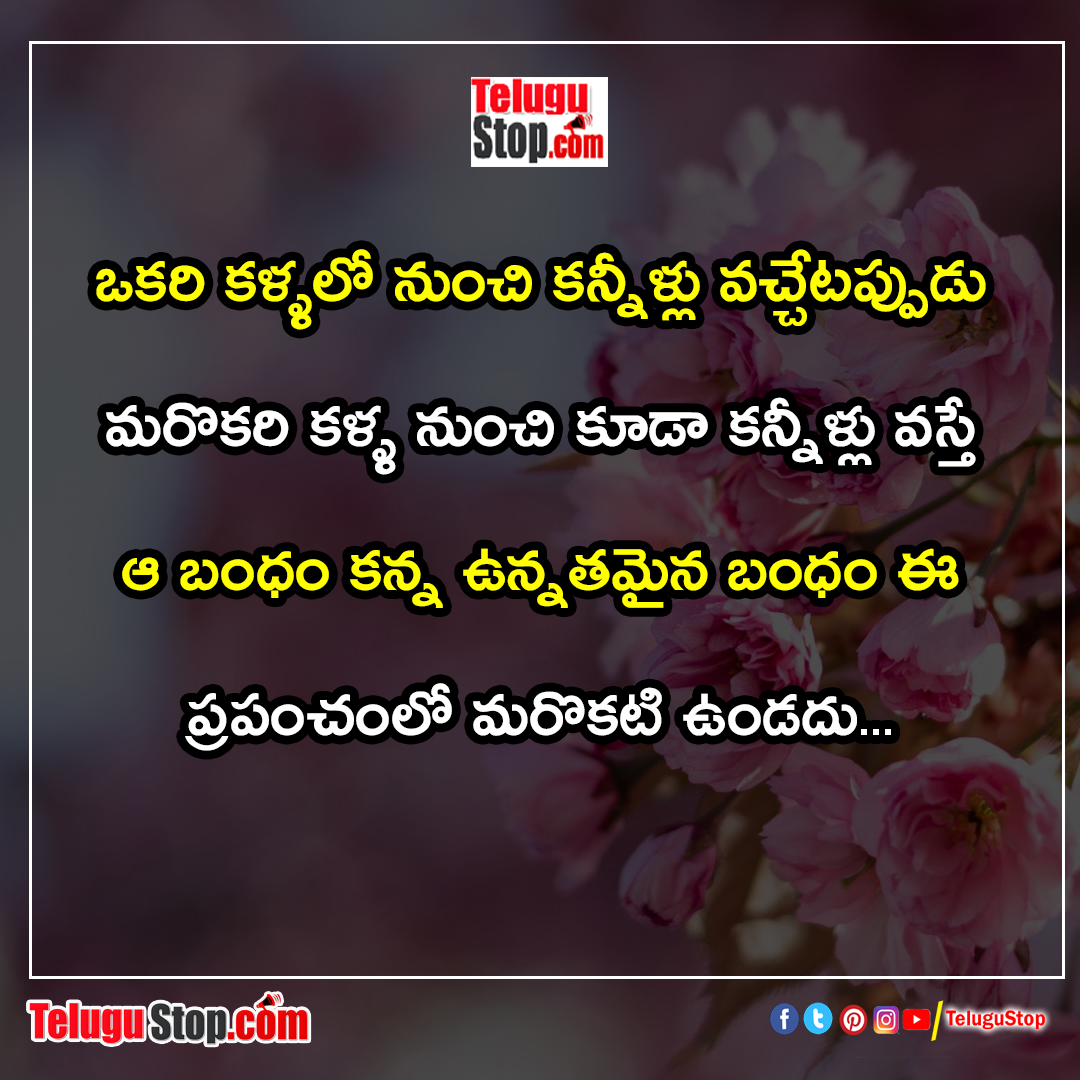 Happy relationship quotes in telugu Inspirational Quote