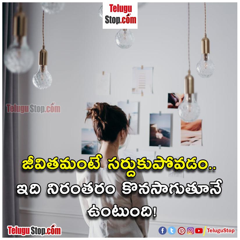 Life adjustment quotes in telugu inspirational quotes