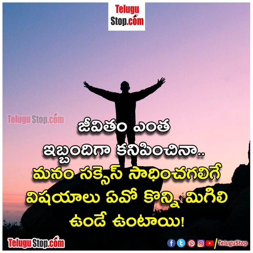 Real life quotes in telugu Inspirational Quote