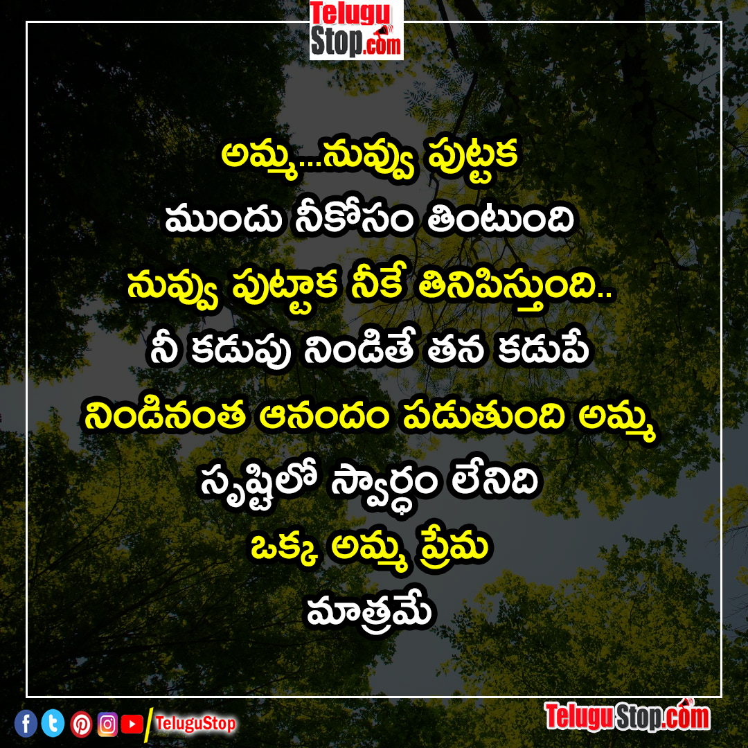 About Mother Love Selfish Less Quotes In Telugu Inspirational Quote Defendant Effort For Success Lif Telugustop