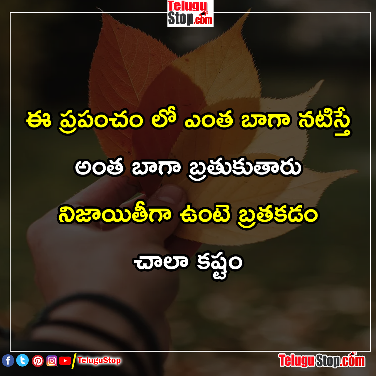 To day Best telugu quotes for life facts inspiration quotes