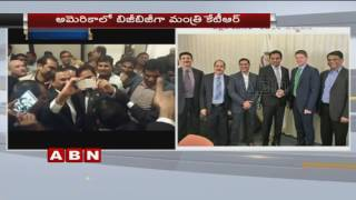 Telangana IT Minister KTR Busy In US Tour | Signs MoUs | ABN Telugu (23-05-2016) Photo Image Pic