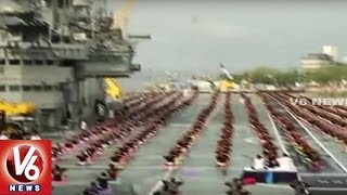 Navy Officers Perform Yoga | International Yoga Day Celebrations | V6 News