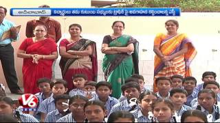 Adilabad Police Awareness Programme for Students on Traffic Rules | Road Safety | V6 News