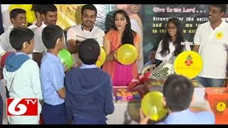 Rashmi Goutham and Getup Seenu Books Distribution In Deaf and Dumb School | Hyderabad | 6TV Photo Image Pic