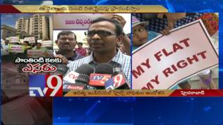 Aditya Imperial Heights victims protest against delay in Houses construction