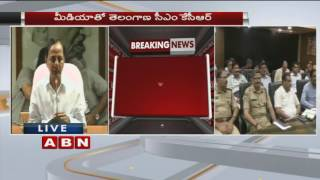 CM KCR explains plan of action over Redesigning of Drainages in Hyderabad (24-09-2016)