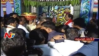 KCR Offers Gold Crown and Special Pooja at Bhadrakali Temple || LIVE Part 01 || NTV. Photo,Image,Pics