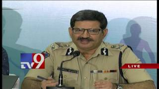 Telangana DGP Anurag Sharma speaks to Media – TV9