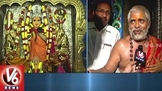 Devotees Throng To Bhadrakali Temple | CM KCR Offer Golden Crown To Goddess | V6 News. Photo,Image,Pics