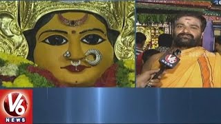 Devotees Throng To Bhadrakali Temple | Goddess Bhadrakali As Mahishasura Mardini | Warangal