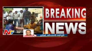 Local People Damages Police Station over Man Suicide Issue || ManaKondur || Nellore || NTV