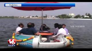 Minister Harish Rao Launches Boat Service In Komati Pond | Siddipet | V6 News. Photo,Image,Pics