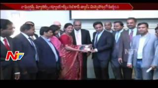 IT Minister KTR Leaves for One Week US Tour || NTV