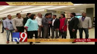 Minister KTR gets grand welcome in AIG Dallas Airport in Washington – DC- USA