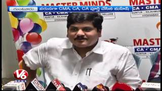 Master Minds Director Prakash Honors Student Mahesh | Completion Of 3 Courses | V6 News