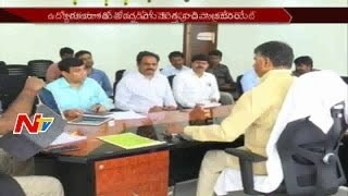 AP CM Chandrababu Continues Review Meetings in Temporary Secretariat || Full Time Governance || NTV