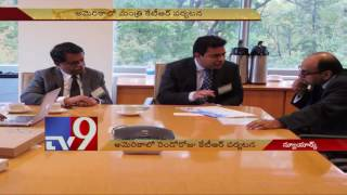KTR in America, meets Pharma Company Heads in New York – TV9