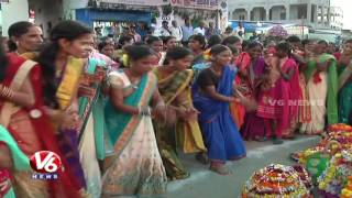 Bathukamma Celebrations After Dussehra | Peculiar Tradition At YedapallI Village | Nizamabad | V6