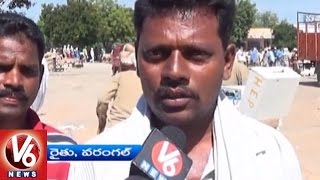 Farmers Express Rejoice Over Cotton Price Hike | Warangal | V6 News