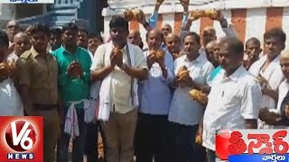 Odisha MLA Purnachandra Breaks 16000 Coconuts At Simhachalam Temple | Teenmaar News