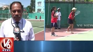 CBSE South Zone Tennis Tournament Grandly Commenced At Sainikpuri | Secunderabad | V6 News