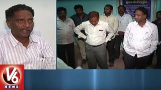 Corporator Attack On Town Planning Officer Over Demolition Of Encroachments | Nizamabad | V6 News