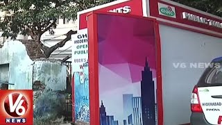 GHMC Officers Negligence On Bio Toilets Maintenance | Hyderabad | V6 News