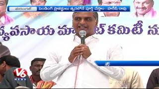 Minister Harish Rao Speech On Welfare Of Farmers | Visits Agriculture Market In Warangal | V6 News