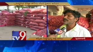 Sudden fall in onion prices make farmers cry – TV9